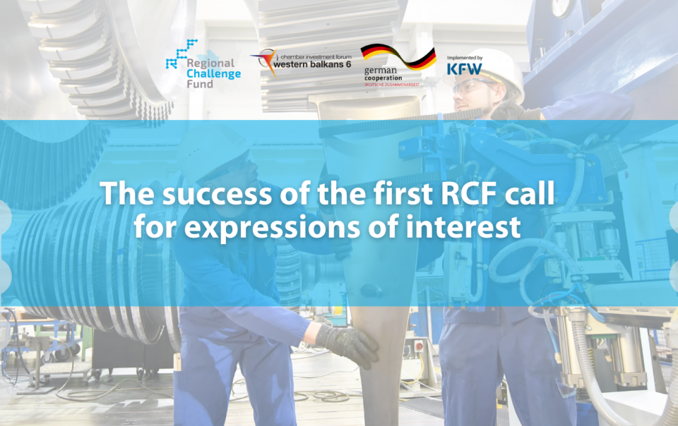 The success of the first RCF call for expressions of interest